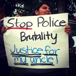 """Stop Police Brutality. Justice for my uncle!"""