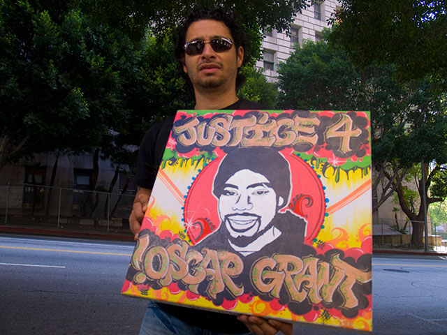 Hundreds Demand Justice for Oscar Grant Outside L.A. Courthouse