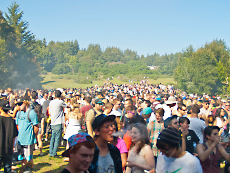 Four Twenty 2013 in Porter Meadow at UC Santa Cruz