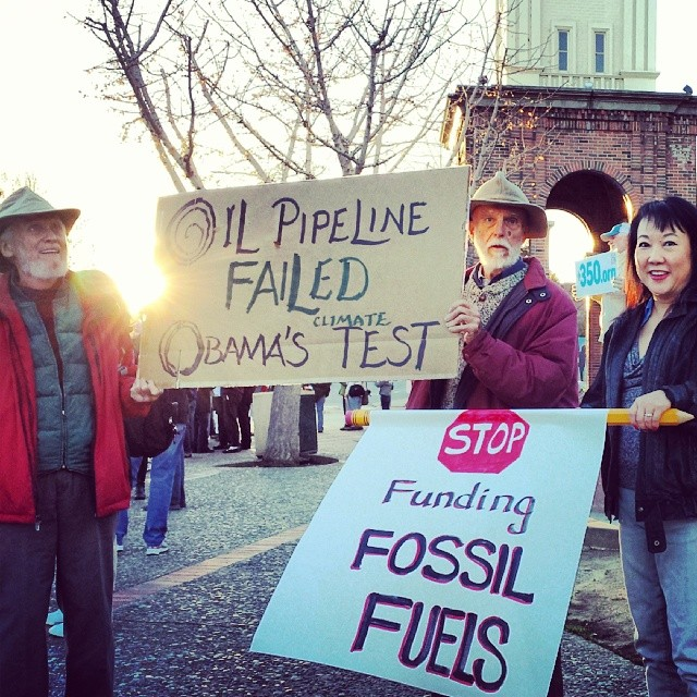 Santa Cruz Joins Nationwide Vigils to Protest Keystone XL Pipeline