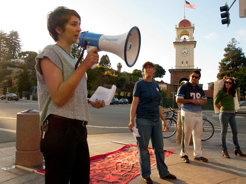 Rally in Santa Cruz for California Hunger Strike Anniversary