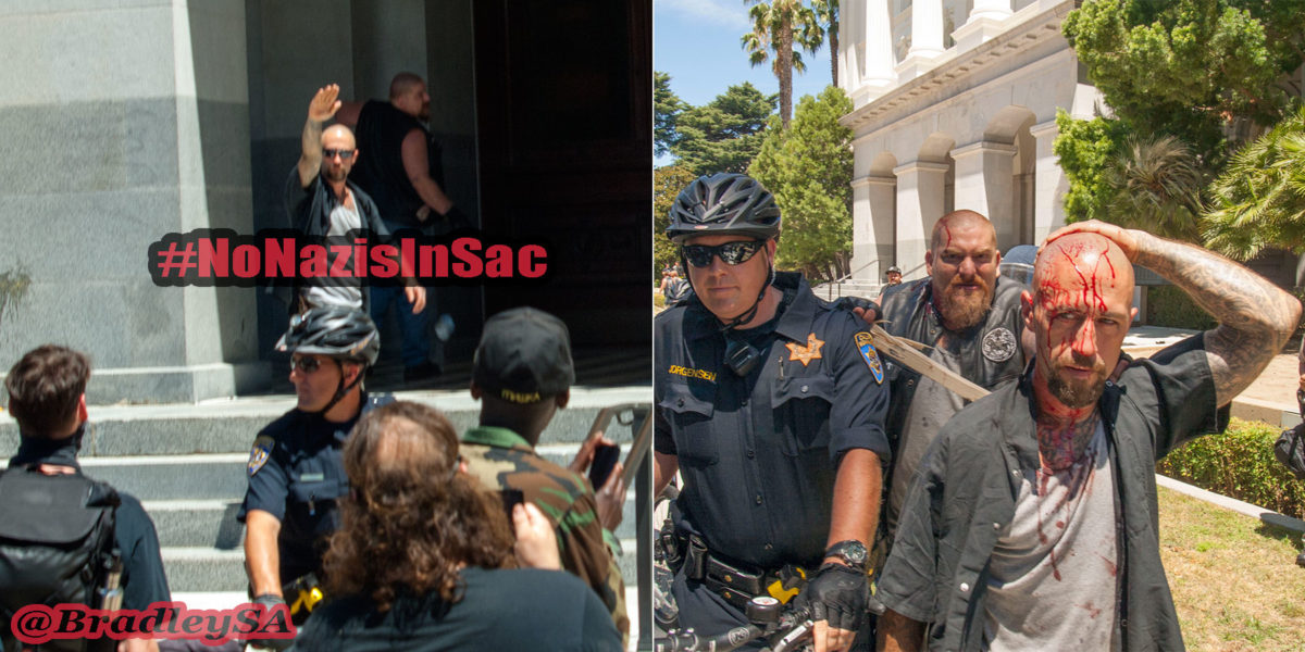"No ""Free Speech"" for Fascists: Neo-Nazis Shut Down in Sacramento"